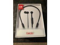 Beats X cordless black Bluetooth headphones in ear brand new