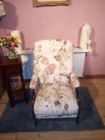 RE UPHOLSTERED YORK RECLINING ARMCHAIR