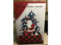 Wooden Advent Calendar with miniature toys