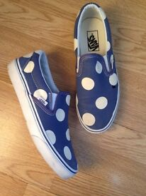 Vans Maxi polka dots Canvas white and blue