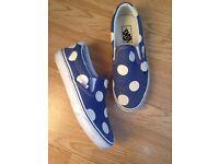 Vans Maxi polka dots Canvas white and blue