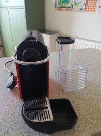 KRUPS NESPRESSO PIXIE XN3006, Coffee Machine Nespresso, red/orange