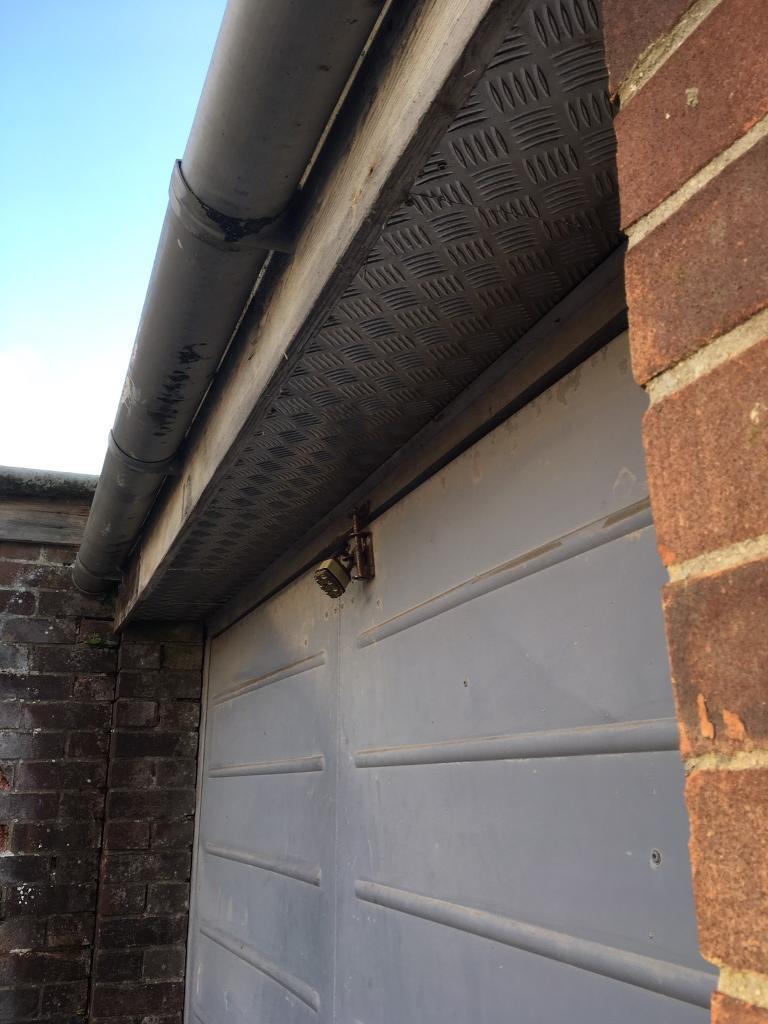 Garage door and interior