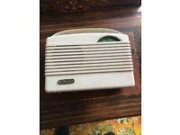 Pale grey portable Vintage 1963 perdio radio