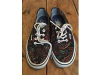 Paisley pattern Vans trainers - size 4. Brand New £20