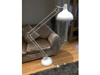 Large white floor lamp