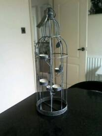 Beautiful dark grey wrought iron tea light holder