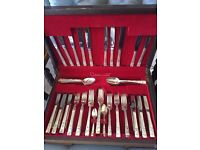 Community Plate cutlery over 100 pieces including canteen