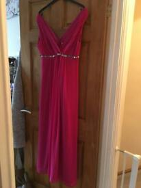 Size 14 evening party pink dress