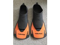 Swimming Finns for swim training Head brand size 8-9 UK 42-43 EU size
