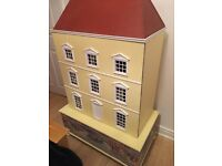 Dolls house and chest