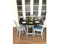 Vintage table and 4 chairs free delivery Ldn shabby chic