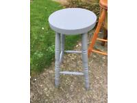 Grey painted kitchen Solid pine Stool