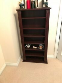 Antique style mahogany bookcase 60 x 19 x 115cm high, suitable for books or CD storage
