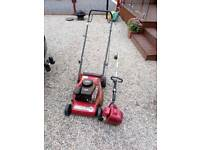 Petrol mower and strimmer