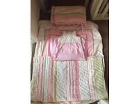 Mothercare Rosebud Cot or Cotbed Bedding Set