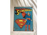 Superman metallic poster NEW