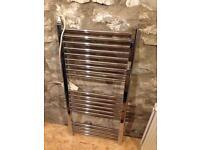 600x1000 Electric Towel Radiator chrome flat