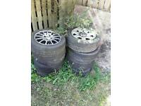 x2 sets of wheels with tyres (BMW, AEZ)