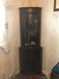 Beautiful tall wooden display cabinet