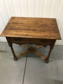 Solid oak side/console table