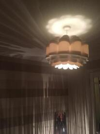 Large statement cream light shade