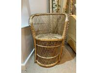 Peacock Rattan Chair (decorative)