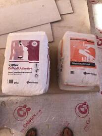 Gyproc driWall adhesive & Thistle Multi Finish