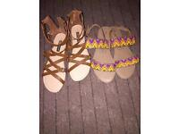2 Pairs Of ladies sandals brand new!