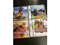 4 x Nintendo horse ds games
