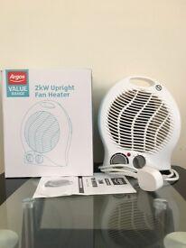 2KW Fan Heater from Argos; Electric Heater