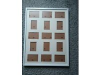 Ikea RIBBA Frame for 15 pictures. White Picture Frame.