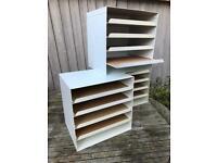 3 IKEA filing boxes