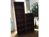 2 matching IKEA Book shelf Billy, brown ash veneer colour