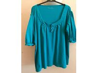 Plus size Lovely 3 ladies tops Bundle size 24 - turquoise, blue Simply Be