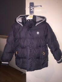Boys navy blue timberland jacket