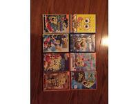 8 spongebob dvds