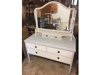 Antique dressing table and mirror. Free delivery