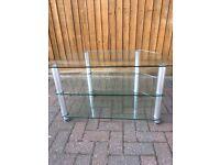 Corner TV unit - glass