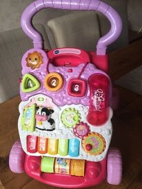 Vtech First Steps Baby Walker Pink - excellent condition