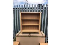 Solid oak items oak sideboard bookcase mirror