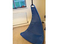 large Blue Swing chair - blue
