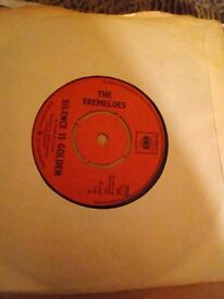 The tremeloes vinyl record 45 rpm silence is golden.