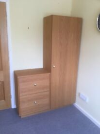 Attached wardrobe and chest
