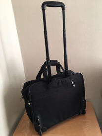 Quality trolley bag, immaculate,just used once, bargain at only £45 with multiple compartments