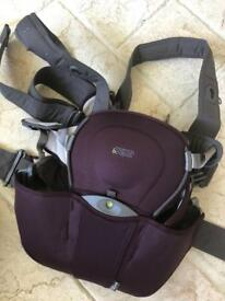 Mamas and papas baby carrier in plum