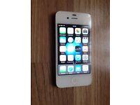 iphone 4s, 16gb, white, on vodafone & lebara, good cosmetic, wifi temperamental