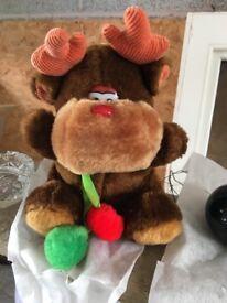 Soft reindeer toy