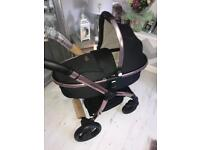 Brand new boxed black diamond egg pram