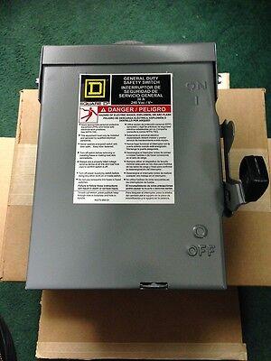 Square D Safety Disconnect - Switch D221nrb Series E3 3r Enclosure 30 Amp 60 Hz